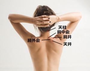 肩のマッサージでは、肩井、肩中兪、肩外兪  という3つのツボが大事です